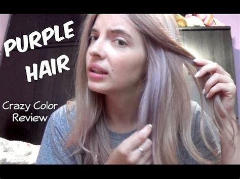 boje za kosu ivory ice purple hair crazy color review youtube