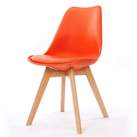 chaise design scandinave orange scandy