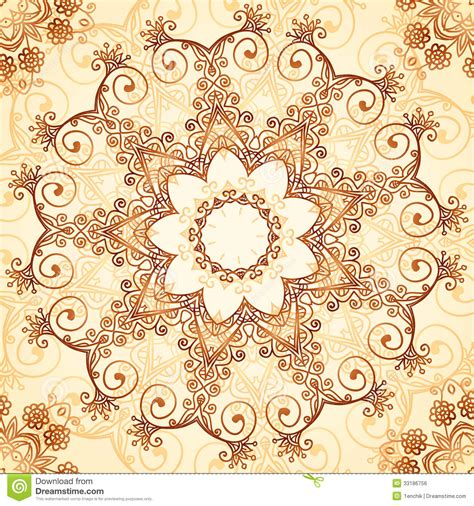 pattern vintage eps ornate vintage vector pattern in mehndi style royalty free
