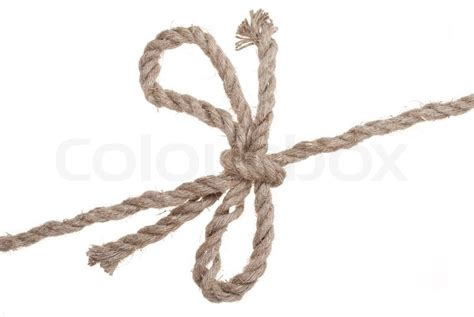 String Knotting - knot and bow on rope stock photo colourbox
