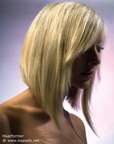 shorter in the back longer in the front curly hairstyles bob kapsel met holle lijn en lange wapperende voorste delen