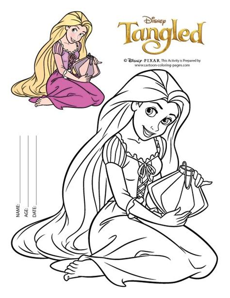 rapunzel coloring pages easy easy rapunzel coloring pages to print in pinterest