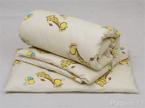 Cradle Doodle Baby Pillow Cover Set White 2 Quilt Duvet Pillow Set Baby Crib Cradle Pram Cot