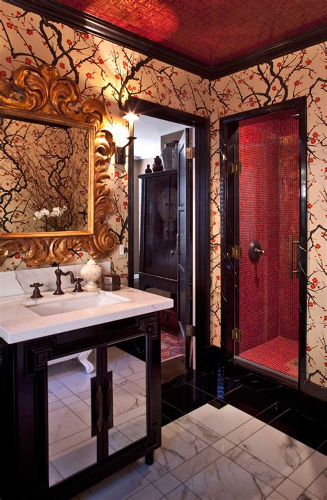 funky mirror ideas eclectic san francisco with 10 amazing bathroom wallpaper ideas and tricks
