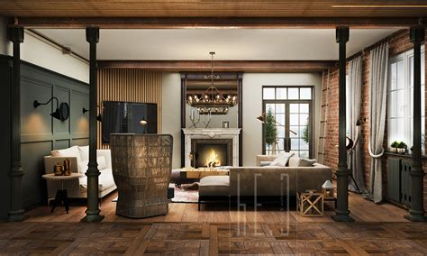 homes interior living rooms with exposed brick walls