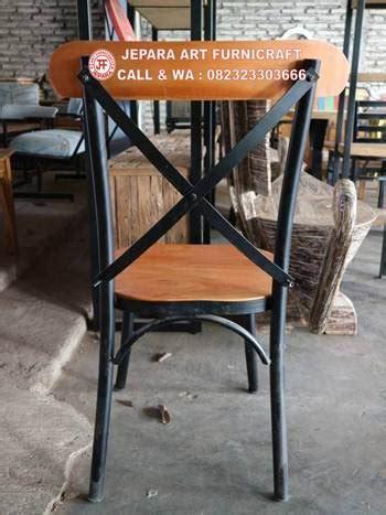 Kursi Makan Besi Minimalis jual kursi makan minimalis crossback industrial murah
