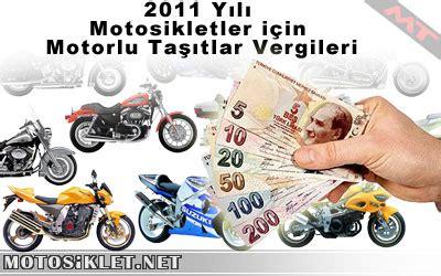 yili motosikletler icin motorlu tasitlar vergileri
