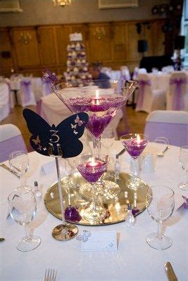 Wedding Favor Or Centerpiece Idea Boxed Martini Candles by Martinis Purple Wedding And Floating Candles On