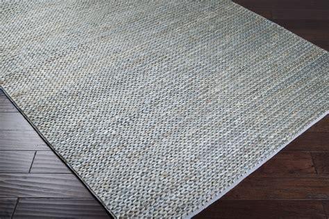 Gray Jute Rug by Designer Series Ds040041 Blue Grey Earth Tones Braided