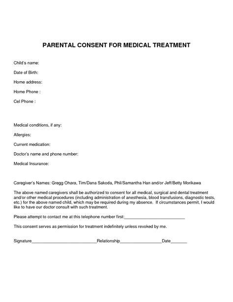 Parental Consent Letter For Treatment Best Photos Of Consent For Treatment Template Treatment Consent Form Template