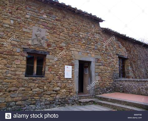 leonardo da vinci house europe italy tuscany anchiano in vinci area house where leonardo stock photo