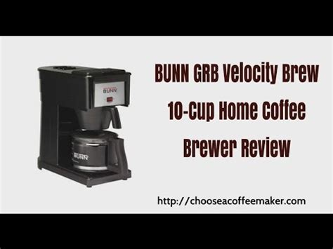 bunn grb coffee maker manual bunn grb velocity brew cup home coffee brewer revi on bxb