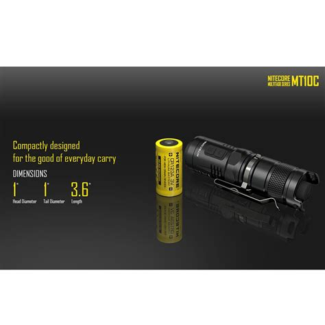 Senter Led Surabaya nitecore mt10c senter led cree xm l2 u2 920 lumens black