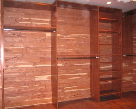 Cedar Planking For Closets by Finally A Cedar Closet 2 Story Closet