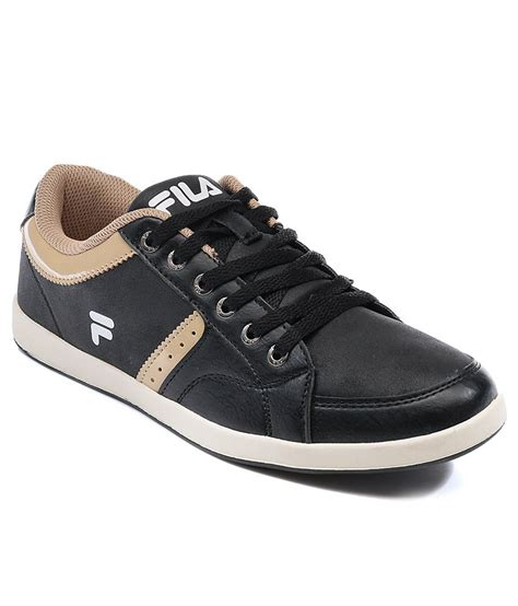 buy fila nevio black gold casual shoes for