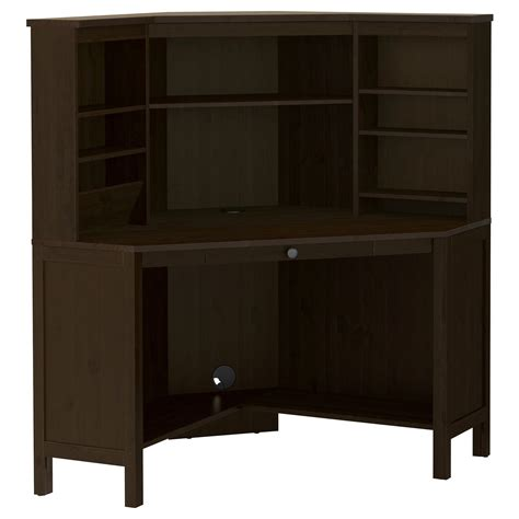 ikea hemnes corner desk hemnes corner work station black brown ikea for the