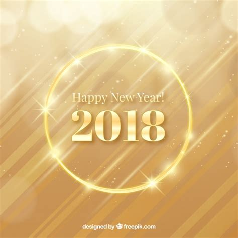 new year 2018 golden week golden new year 2018 background vector free