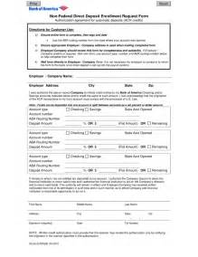 Direct Deposit Form Template by Simple Direct Deposit Form Template Free Donwload Free