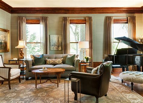 20 living rooms with the textural beauty of grasscloth 20 living rooms with textural beauty of grasscloth2014
