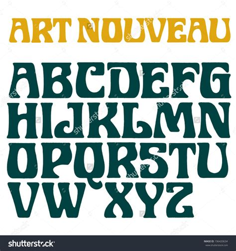 find font from image nouveau font decorative vector type printed