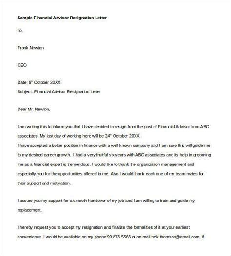 Financial Advisor Letter Of Recommendation handover letter image collections cv letter and format sle letter