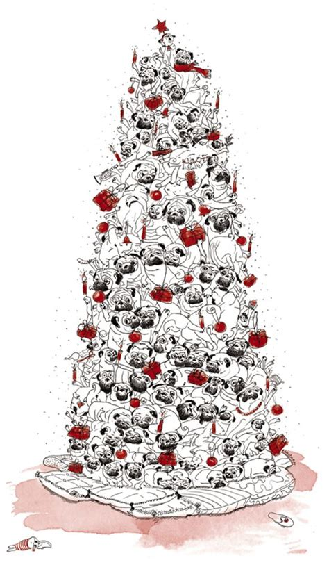 pug christmas tree 1000 images about pugs on tree ornaments