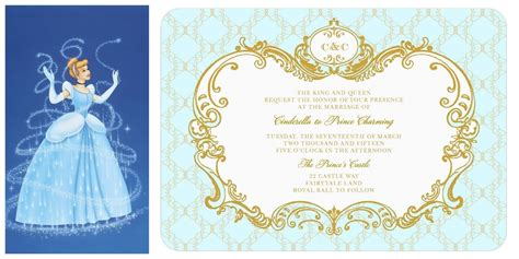 cinderella invitation to the template cinderella wedding invitation official disney