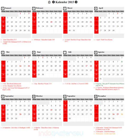 Kalender 2018 Plus Libur Nasional Kalender 2015 Plus Hari Libur Nasional