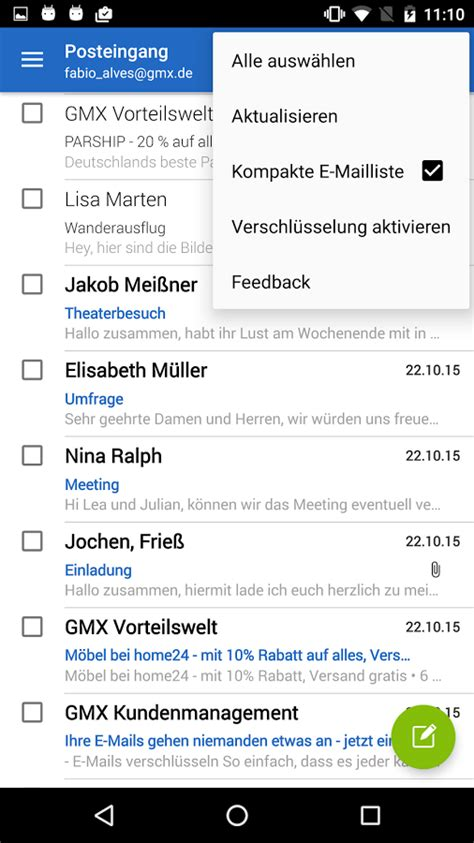 Android Search Email Gmx Email Konto Auf Android Einrichten Chip