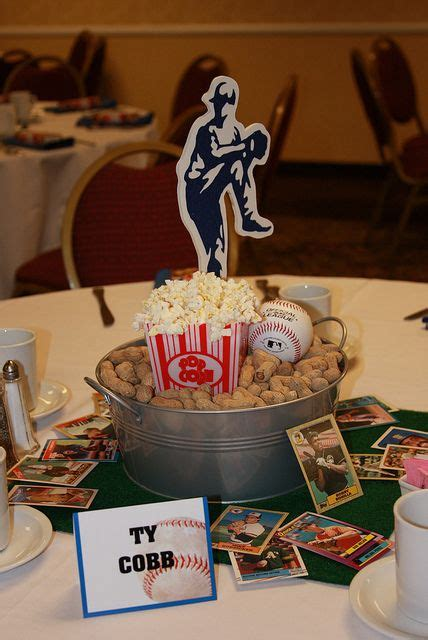 25 best ideas about baseball centerpieces on