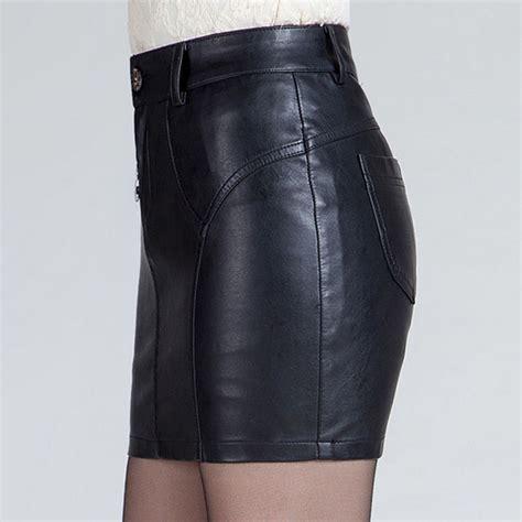 Import Leather Asimetris Black Pencil Skirt Rok Mini Hitam Kulit new fashion mini skirt winter leather pencil skirt black pu skirts ebay