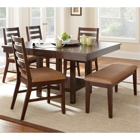 steve silver company 6 dining table set in