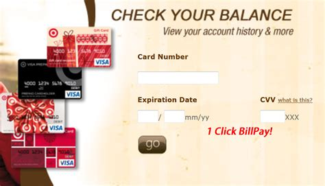 Target Gift Card Check Balance - my bill com bill payment information