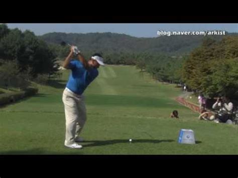 justin rose swing vision kj choi slow motion driver golf swing 1