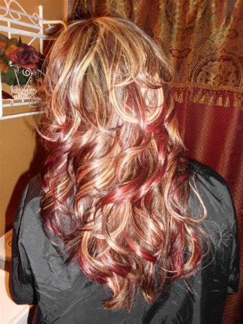 hairstyles blonde and red highlights red and blonde highlights my style pinterest to be