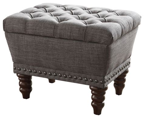 fabric storage ottoman bench tufted fabric storage ottoman accent and storage benches