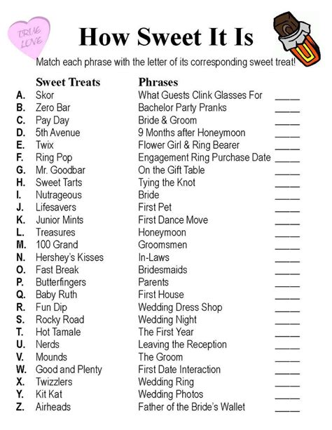 printable bridal shower checklist 13 best bridal shower games images on pinterest bridal
