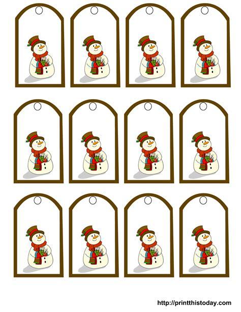 printable gift stickers free printable snowman christmas gift tags