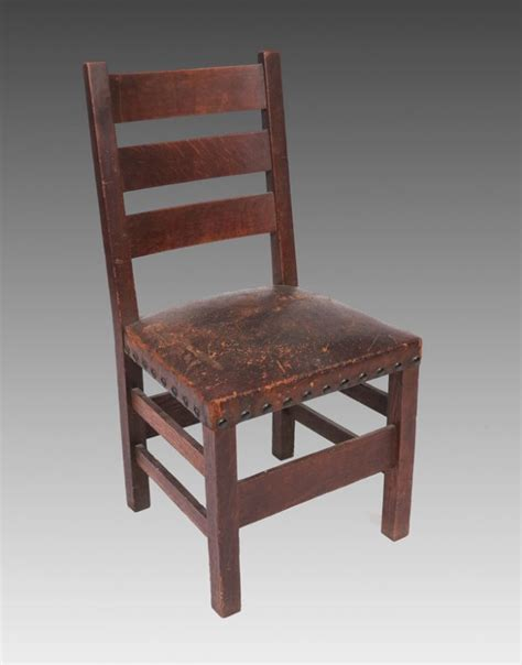 191 Gustav Stickley Dining Chair 349 1 2 Lot 191 Stickley Dining Chair