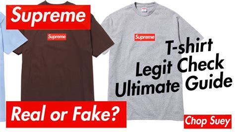 authentic supreme clothing supreme tshirt real vs comparison how to tell apart