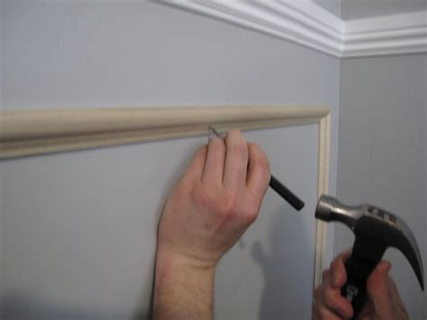 how to install chair rail molding miss wenny how to install chair rail moulding