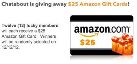 Amazon Gift Card Meijer - win 1 of 12 amazon gift cards worth 25 each from chat about