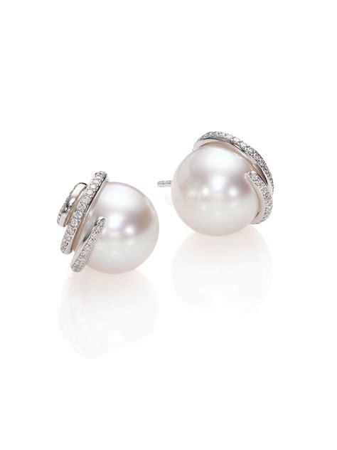 mikimoto twist 11mm white cultured south sea pearl