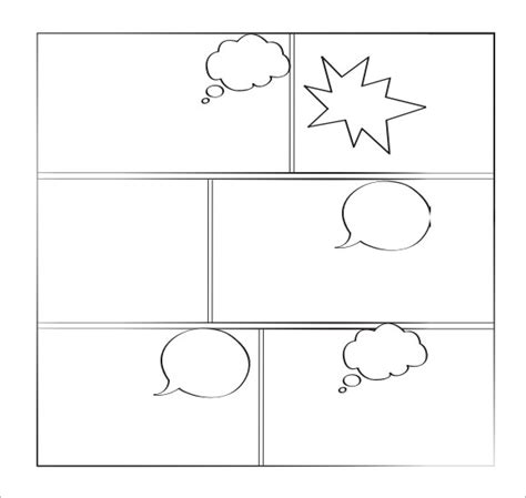 Sle Comic Book 6 Documents In Pdf Psd Comic Frames Template