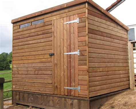 Flat Shed by Nane 10 X 8 Pent Shed Plans Craftsman Tool