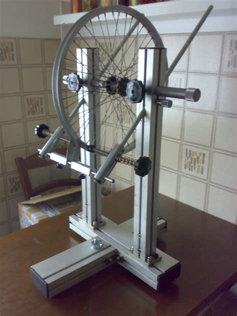 home made build a precision bicycle wheel truing stand s