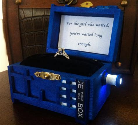 engagement ring boxes that light up police box wedding ring box with led light handmade police box