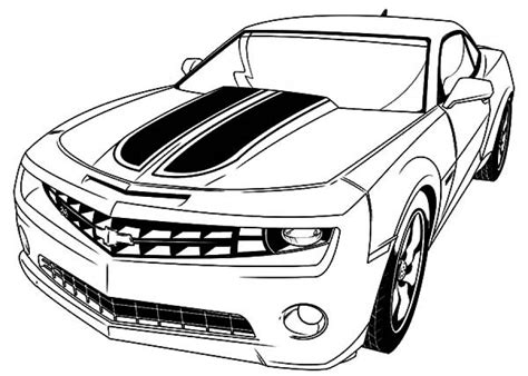 beautiful camaro bumblebee car coloring pages