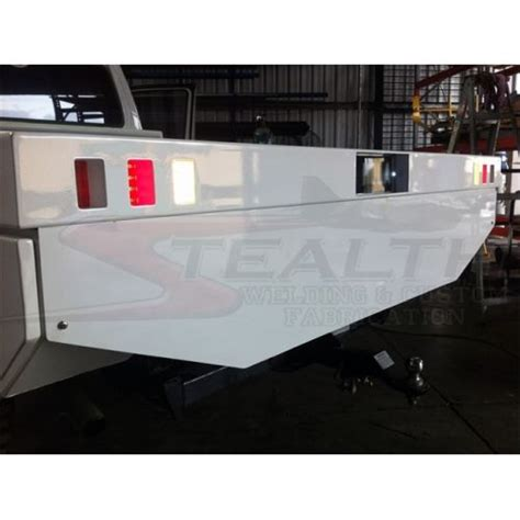 stainless steel trap door custom tray with 400l fuel tank spare wheel trap door