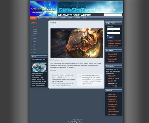 theme drupal gaming free drupal template